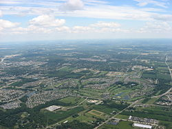 Southern Washington Township, with Centerville in the distance