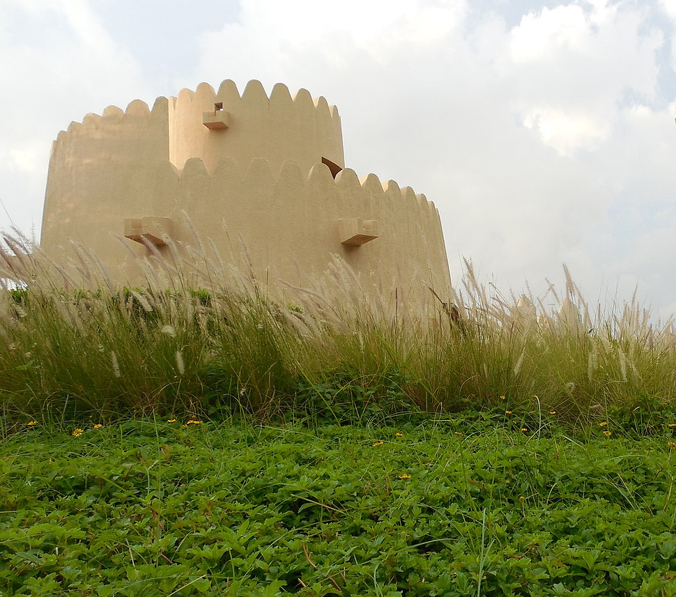 Watch Tower at the Heritage Park in Abu Dhabi, UAE