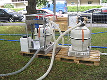Portable water purification unit used by International Red Cross and Red Crescent.