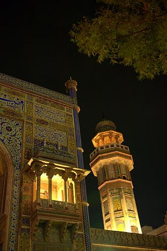 Wazir Khan Mosque - The mosque is now illuminated at night.