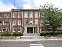 Webster Groves High School senior entrance.JPG