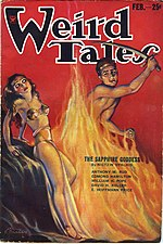 Weird Tales cover image for February 1934