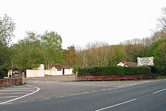 A4226 road - Welsh Hawking Centre from the A4226 road near Weycock Cross
