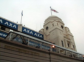 Maxwell Ayrton - One of the Twin Towers of Ayrton's old Wembley Stadium (1923)
