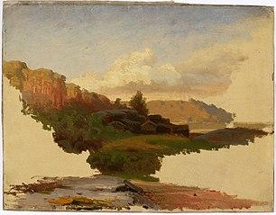 Landscape from Leppälahti in Kuru ; Unfinished