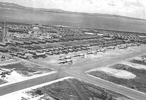 West Field (Tinian) - Image: West Field B 29s on parking ramp