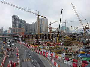 West Kowloon Terminus Construction Site near south of Jordan Road in Dec 2015 (2).JPG