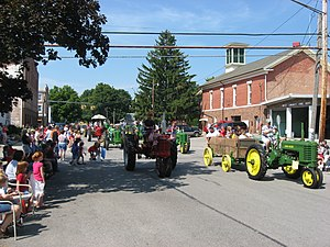 West Liberty, Ohio - West Liberty's annual antique tractor parade