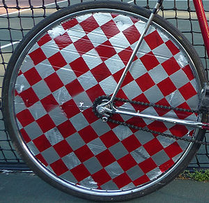 Hardcourt Bike Polo - Freshly painted wheel cover