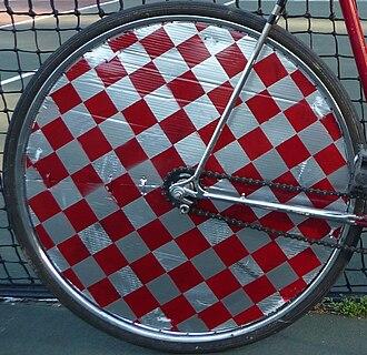 Hardcourt Bike Polo - Freshly painted wheel cover