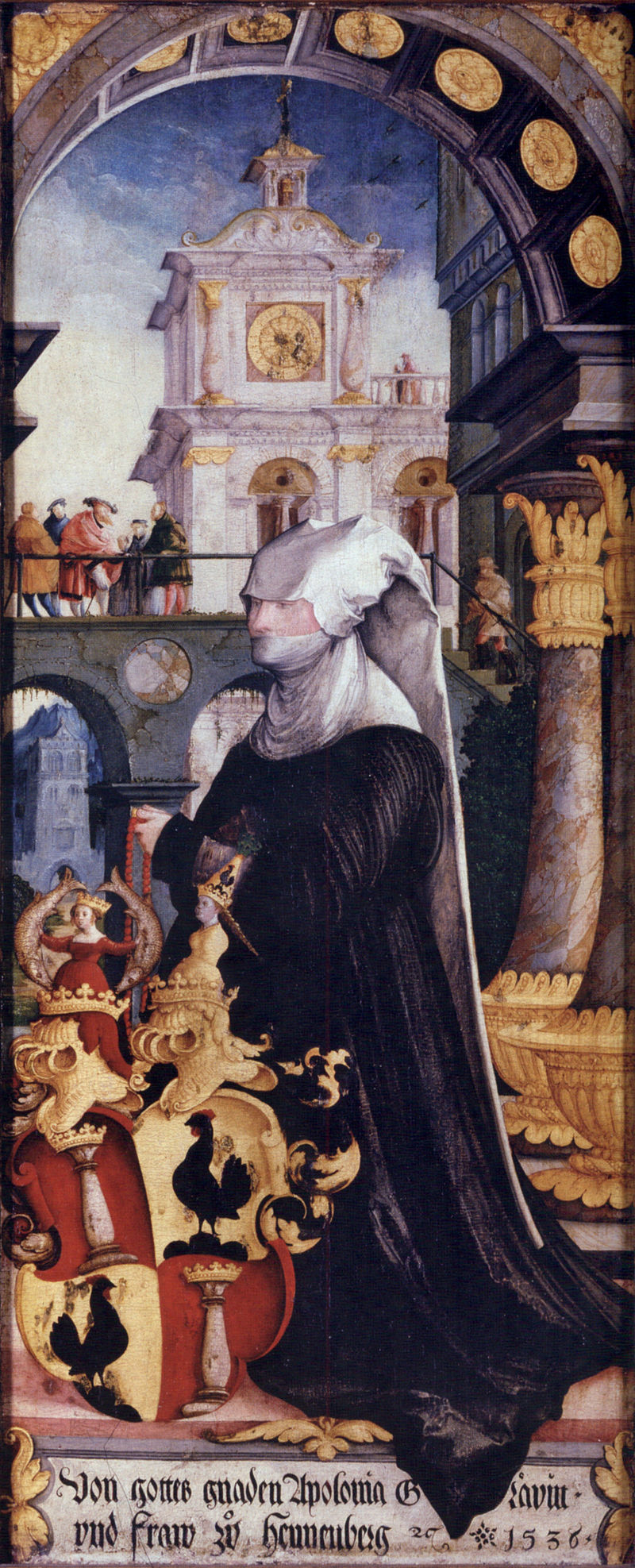 (Donor portrait) Countess Apollonia von Henneberg with coat of arms
