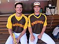 Will Myers and his pitcher - brother Beau - are ready to go in the 2016 T-Mobile -HRDerby. (28005229043).jpg