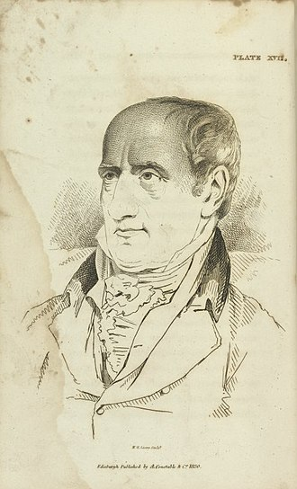 Sir George Mackenzie, 7th Baronet - William Godwin, engraving by William Home Lizars from Mackenzie's Illustrations of Phrenology (1820).