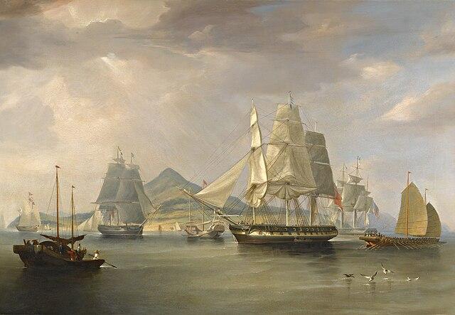 William John Huggins-The opium ships at Lintin,China,1824