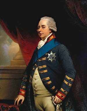 William V, Prince of Orange - Portrait by Henry Bone (1801)