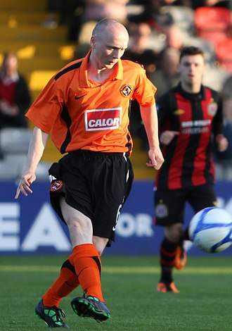 Willo Flood - Flood playing for Dundee United in 2011, in the pre-season friendly match against Bohemians