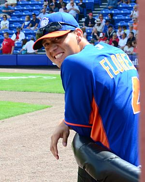 Wilmer Flores - Flores with the New York Mets in 2014