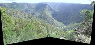 Wollomombi Falls - View from Edgar's Lookout, Wollomombi, NSW