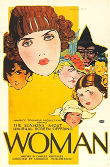 Description de l'image Woman 1918 film poster.jpg.