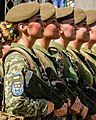 Women medic soldiers of Ukraine on 24 August 2018, from- Tennessee Army National Guard participates in the Ukrainian Independence Day parade Aug. 24, 2018 (29366943467) (cropped).jpg