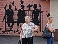 Women with Mural on Street - Kharkiv (Kharkov) - Ukraine (43143858255).jpg