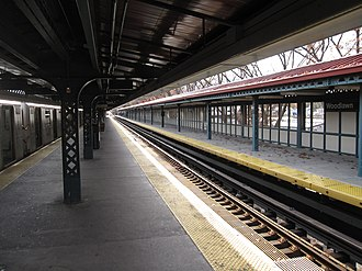 Woodlawn (IRT Jerome Avenue Line) - The platforms at Woodlawn, looking south