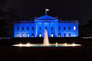 World Autism Awareness Day - The White House Lights Up Blue
