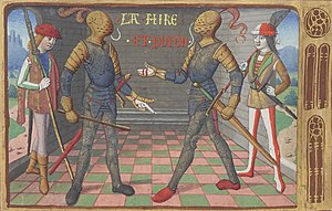 Baton (military) - Baton carried by Jean Poton de Xaintrailles (left), made Marshal of France in 1454