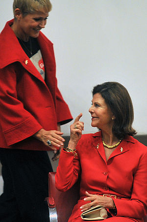 World Childhood Foundation - Queen Silvia of Sweden and Xuxa, in the Chamber of Deputies of Brazil in Brasilia.