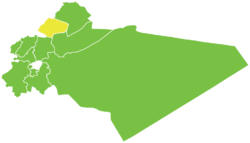 Map of Yabroud District within Rif Dimashq Governorate