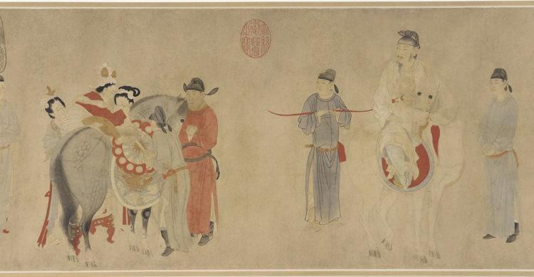 Yang Guifei Mounting a Horse