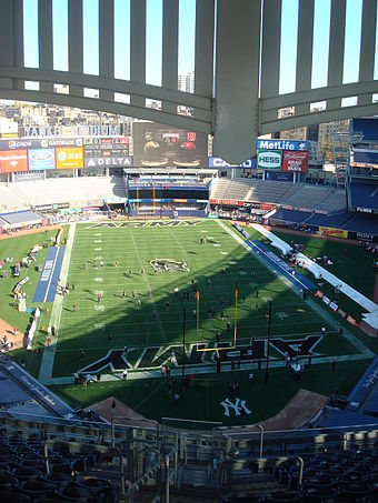 Yankee Stadium in football configuration for a game between Army and Rutgers Yankee Stadium Football.jpg
