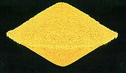 Yellowcake is a concentrated mixture of uranium oxides that is further refined to extract pure uranium.