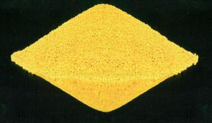 Uranium oxide - Yellowcake, a mixture of uranium oxides.