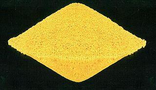 Yellowcake uranium concentrate powder