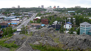 Yellowknife - Looking south-west, across Yellowknife from the Bush Pilots Monument