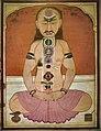 Yogin in meditation chakras kundalini snake.jpg