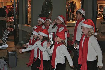Holiday songs on the streets in Sonoma