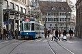 Zürich - Limmatquai with tram.JPG
