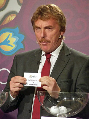UEFA Euro 2012 qualifying play-offs - Zbigniew Boniek during the draw