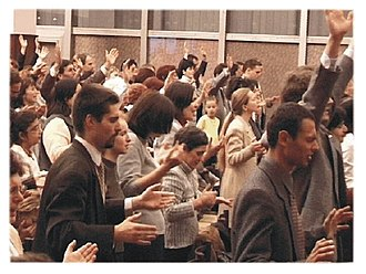 Pentecostalism - Pentecostals worshiping in Slovakia