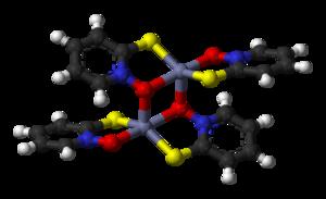 Zinc pyrithione - Image: Zinc pyrithione dimer 3D balls