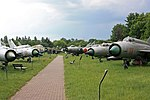 """""""Aleja MiG-ów"""" w Muzeum Lotnictwa Polskiego w Krakowie.jpg"""