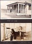 """Self at rest"" Sergeant Devos sitting in the doorway of the ""N. C. Officers' Bachelors Quarters"". (3548397487).jpg"