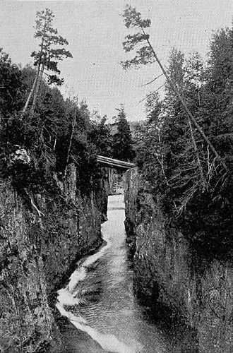 """Montreal River (Timiskaming District) - """"The Notch"""", 1906"""