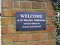 """Welcome"" to St.Martin's Tuddenham St.Martin - geograph.org.uk - 1128080.jpg"