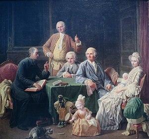 Nicolas Bernard Lépicié - Image: 'Portrait of the Leroy Family' by Nicolas Bernard Lépicié, 1766, Pushkin Museum