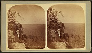 Grundy County, Tennessee - Stereo card c. 1900 showing an overlook at Beersheba Springs