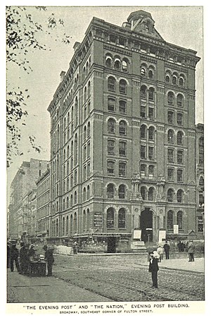 The Nation - The Evening Post and The Nation, 210 Broadway, Manhattan, New York