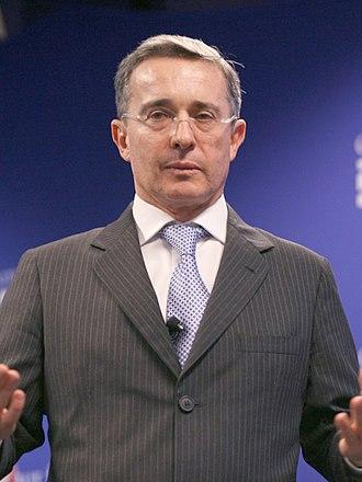 Álvaro Uribe - Image: Álvaro Uribe Velez (cropped)